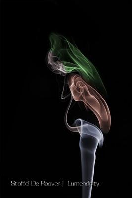 Smoke photography - pregnant woman