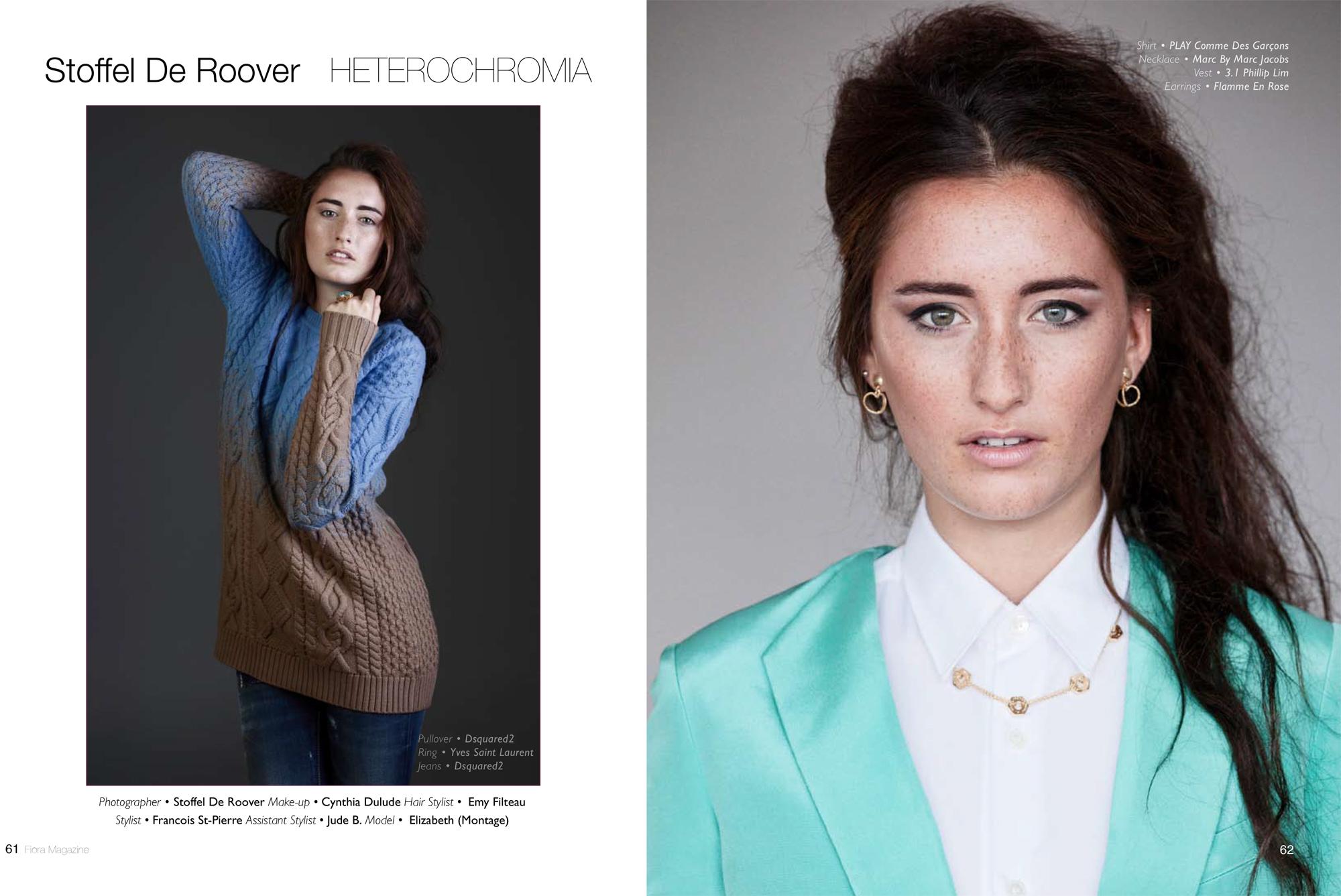 Heterochromia, editorial in Fiora Magazine